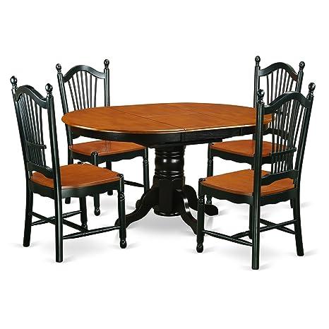 Amazon.com: East West muebles avdo5-bch-w Juego de ...