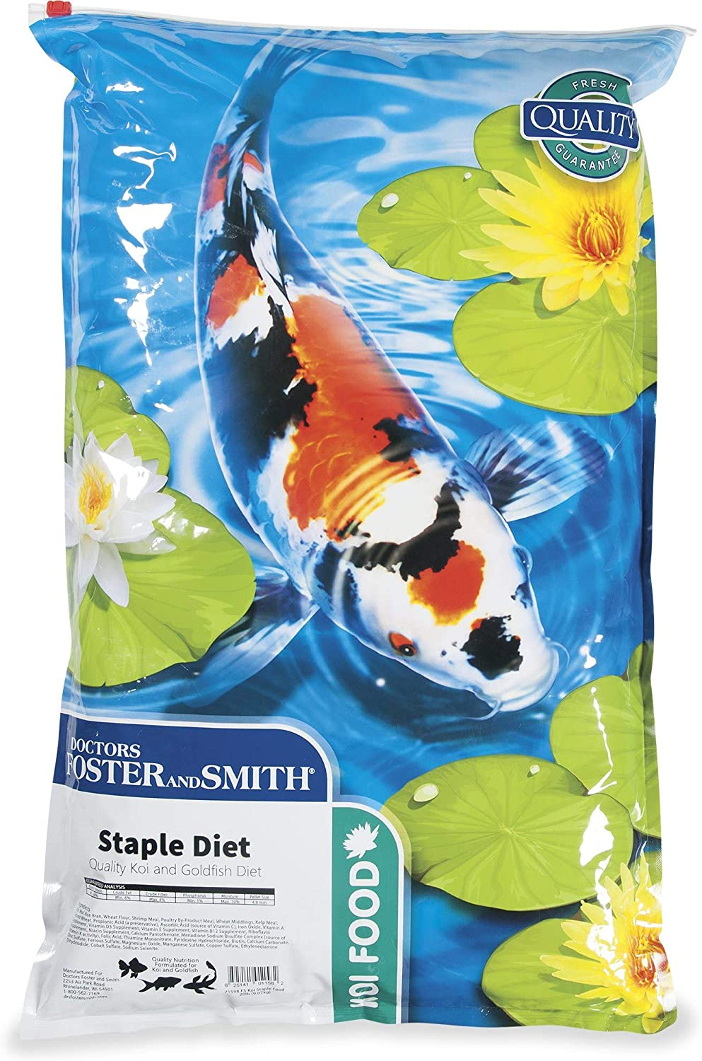 DRS. Foster and Smith Staple Diet Quality Koi and Goldfish Food, 20 lbs.