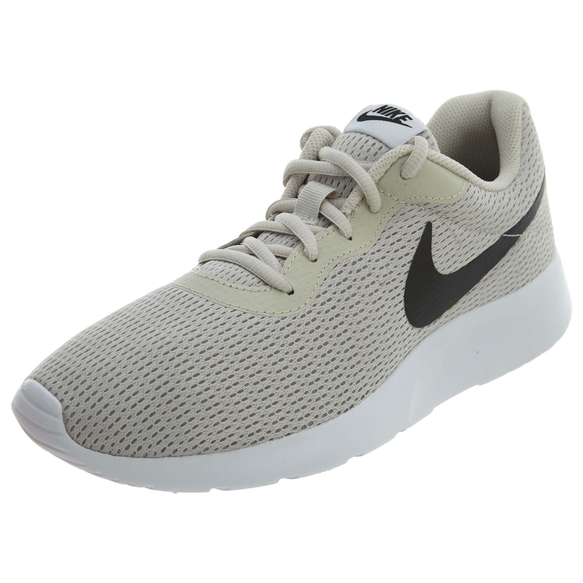 NIKE Mens 812654 Fabric Low Top Lace up, Light Bone/Black-White, Size 10.0 by NIKE