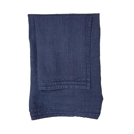 La fábrica del Lino Juego toalla Viso + toalla de invitados de lino puro