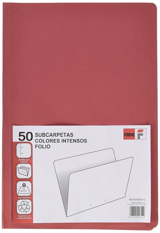 Elba Fade–Pack di 50cartelline semplici riciclate, Verde, colore: rosso Hamelin Brands 400040473