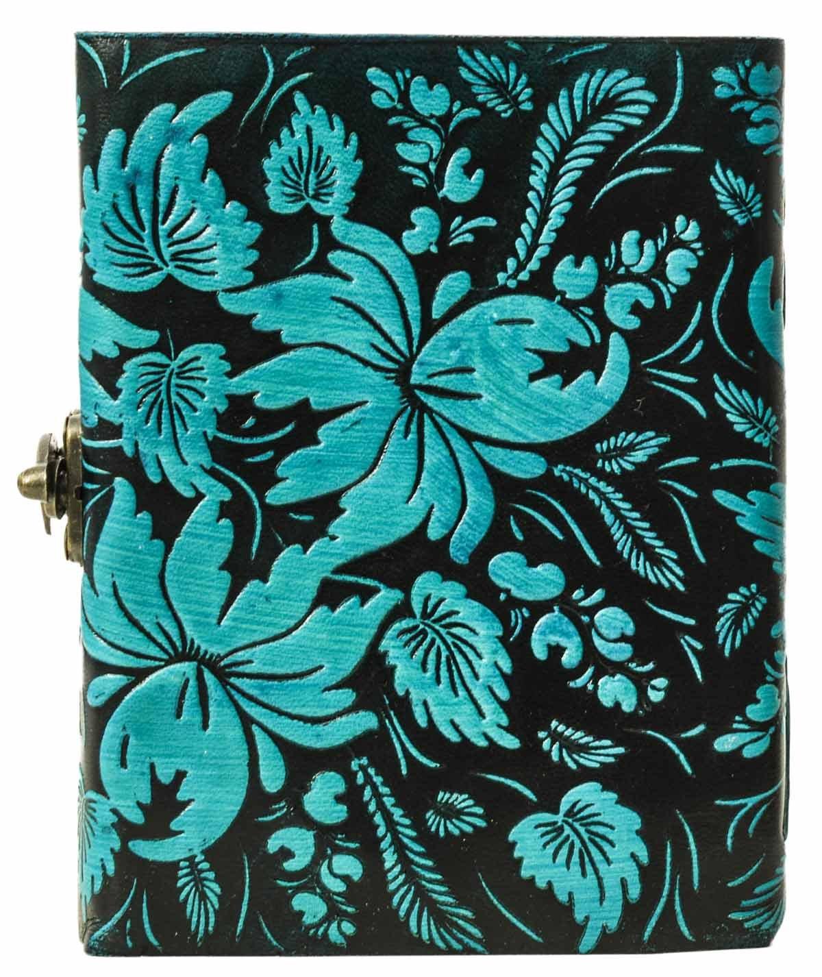 Libreta Gusti Cuero studio Bonnie Agenda Formato B5 Diario de Viaje Libreta de Dibujo Libreta de Foto Azul 2P46-24-20