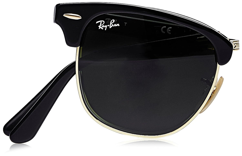 44e01c90614 Amazon.com  Ray-Ban Clubmaster Folding Square Sunglasses