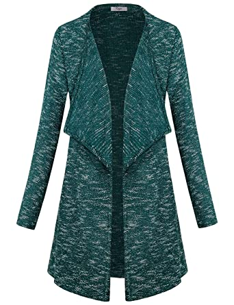 Cestyle Womens Long Sleeve Lapel Neck Open Front Cardigan Sweaters ... 2ca80ba24