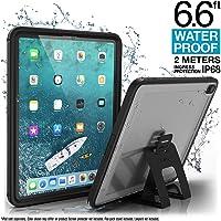 """Coque Étanche pour iPad Pro 12.9"""" Édition 2018 par Catalyst - Étanche jusqu'à 2m - Protection Totale, Ultra Résistance aux Chutes, Support Multi-Angle Inclus, Ecran Protecteur Intégré - Noir"""