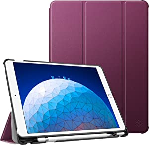 "Fintie Case for iPad Air (3rd Gen) 10.5"" 2019 / iPad Pro 10.5"" 2017 - [SlimShell] Ultra Lightweight Standing Protective Cover with Built-in Pencil Holder, Auto Wake/Sleep (Purple)"