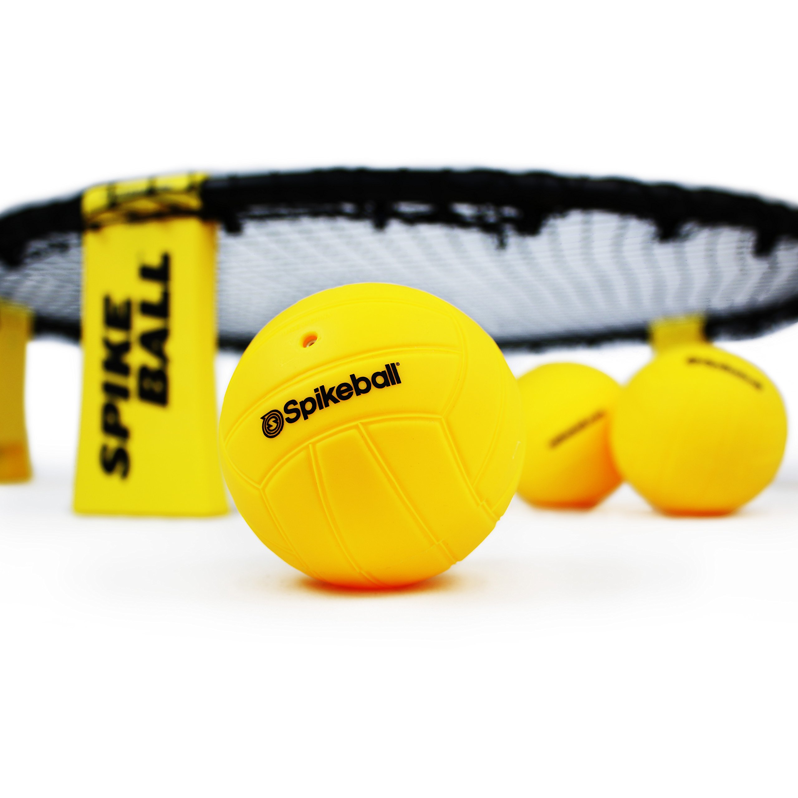 Spikeball 3 Ball Sports Game Set - Outdoor Indoor Gift for Teens, Family - Yard, Lawn, Beach, Tailgate - Includes Playing Net, 3 Balls, Drawstring Bag, Rule Book- As Seen on Shark Tank (3 Ball Set) by Spikeball (Image #7)