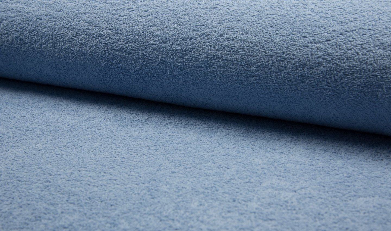 BEIDSEITIG Baumwolle Frottier Tuch Stoff - Dusty Blau - Blau, 5Mtr 500cmx150cm
