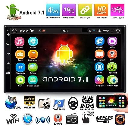 FidgetFidget Car Stereo GPS Navigator Radio MP5 Player 7 2 Din Quad-core Android 7.1 WiFi