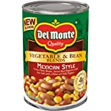 Del Monte Vegetable & Bean Blends, Mexican Style, 14.5-Ounce Can