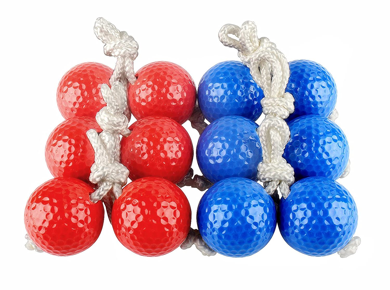 Sunfung Ladder Toss Ball Replacement Ladder Balls Bolos Bolas 6 Pack (3 Red + 3 Blue)