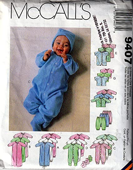 Amazon Mccalls Pattern 9407 Baby Bunting Unisex Sewing Layette