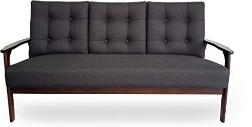 Christopher Knight Home Athena Mid Century Waffle Stitch Tufted Accent Sofa