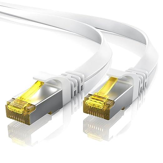 41 opinioni per 5,0m- CAT.7 Cavo di rete piatto | Ethernet Gigabit Lan (RJ45) |
