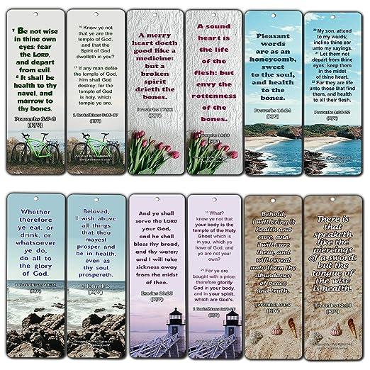 KJV Marcadores de libros religiosos con versos de la Biblia