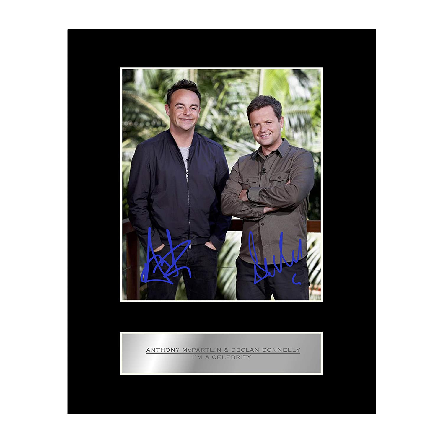 Ant and Dec Signed Mounted Photo Display I'm a Celebrity Iconic pics