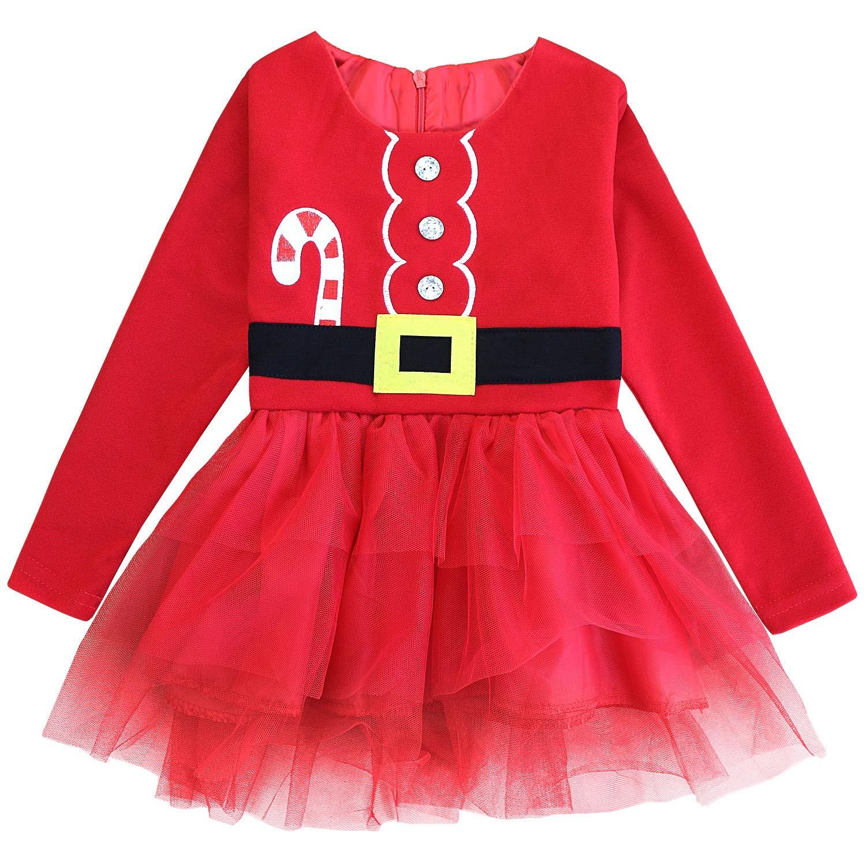 Fancyinn Bebita 1er Traje de Navidad Vestido de tutú Princesa Infantil Ropa de Fiesta