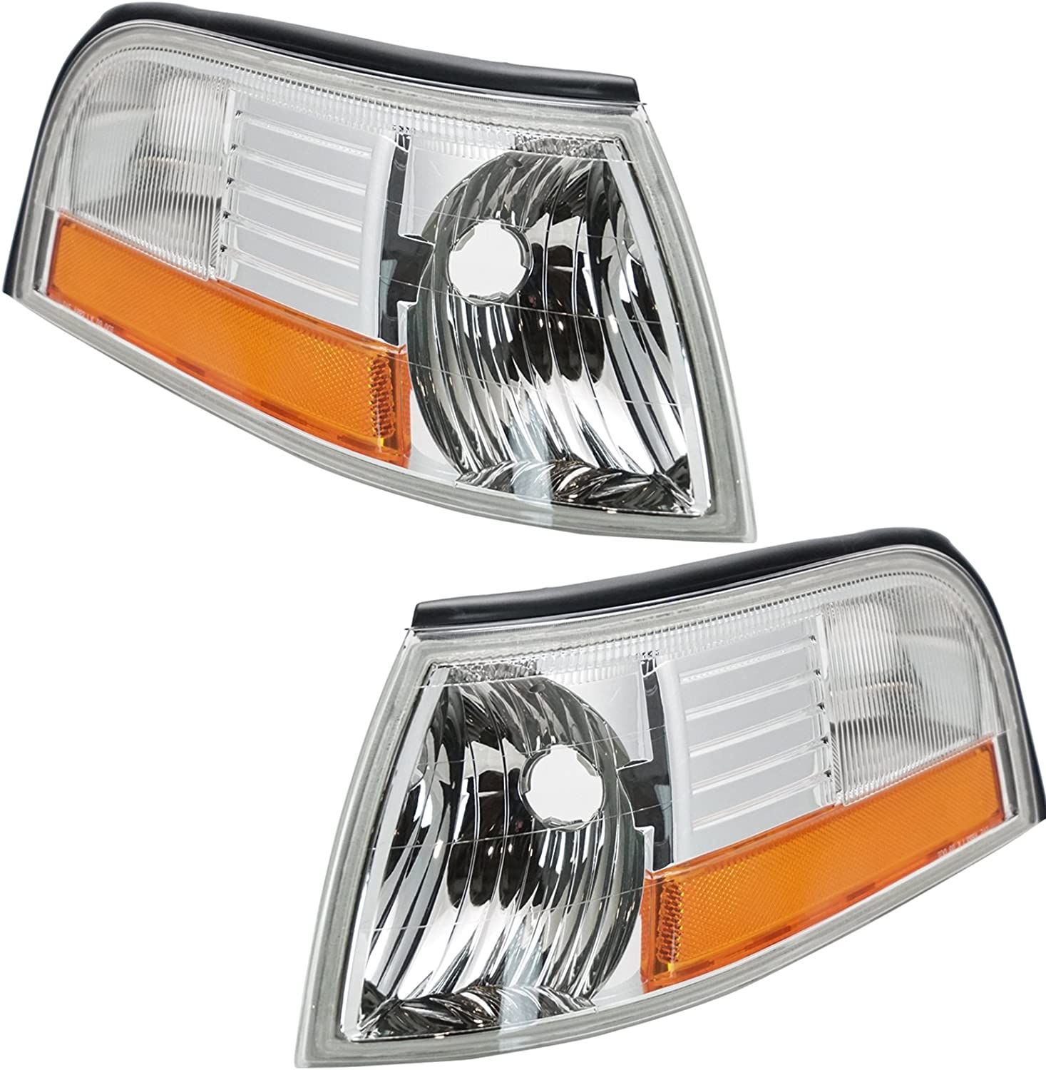 Corner Side Marker Parking Signal Light Lamp Pair Set for 03-05 Mercury Marquis