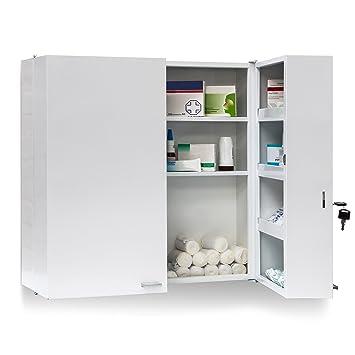 Relaxdays 10019095 Armoire à Pharmacie Acier Xxl Toilette