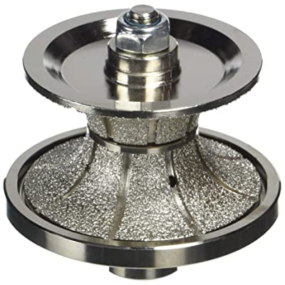 "Specialty Diamond V40FBPW 1-1/2"" Full Bullnose Vacuum Brazed Diamond Profile Wheel with 5/8""-11 Female Threads: Home Improvement"