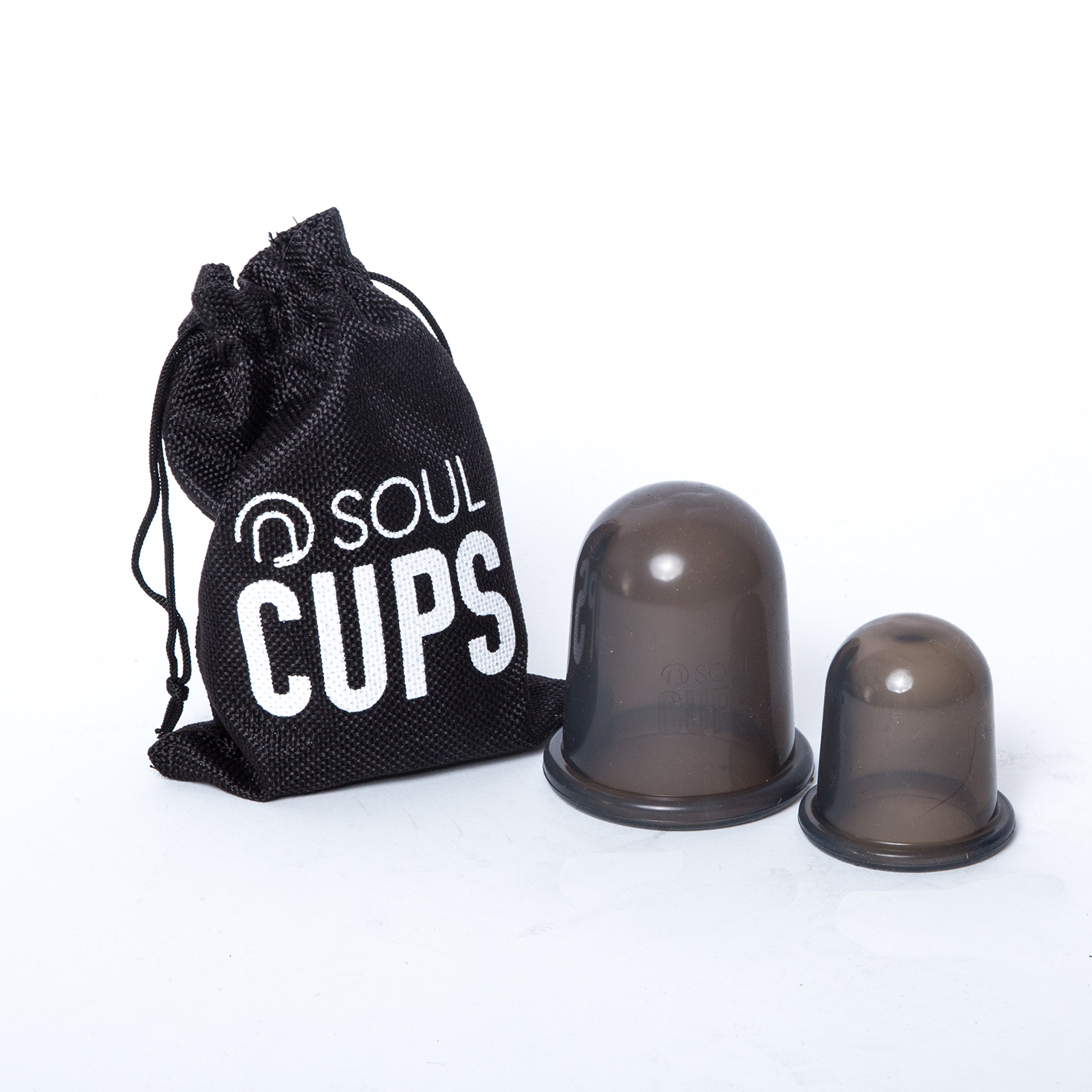 Soul Cups - Silicone Anti Cellulite Cup Set for Cupping Massage Therapy and EBook