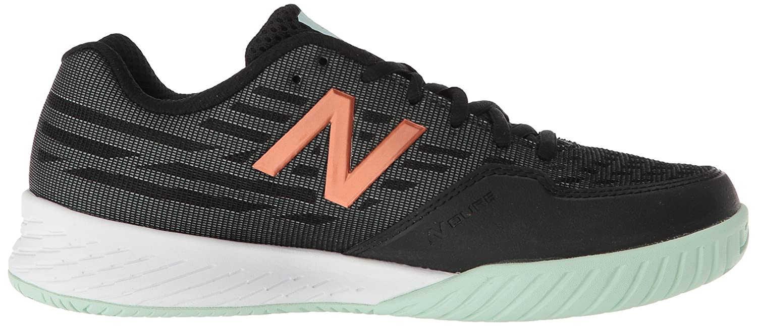 New Balance Women's 896v2 Hard Court Tennis Shoe B0751S7LPB 6.5 D US|Black/Seafoam