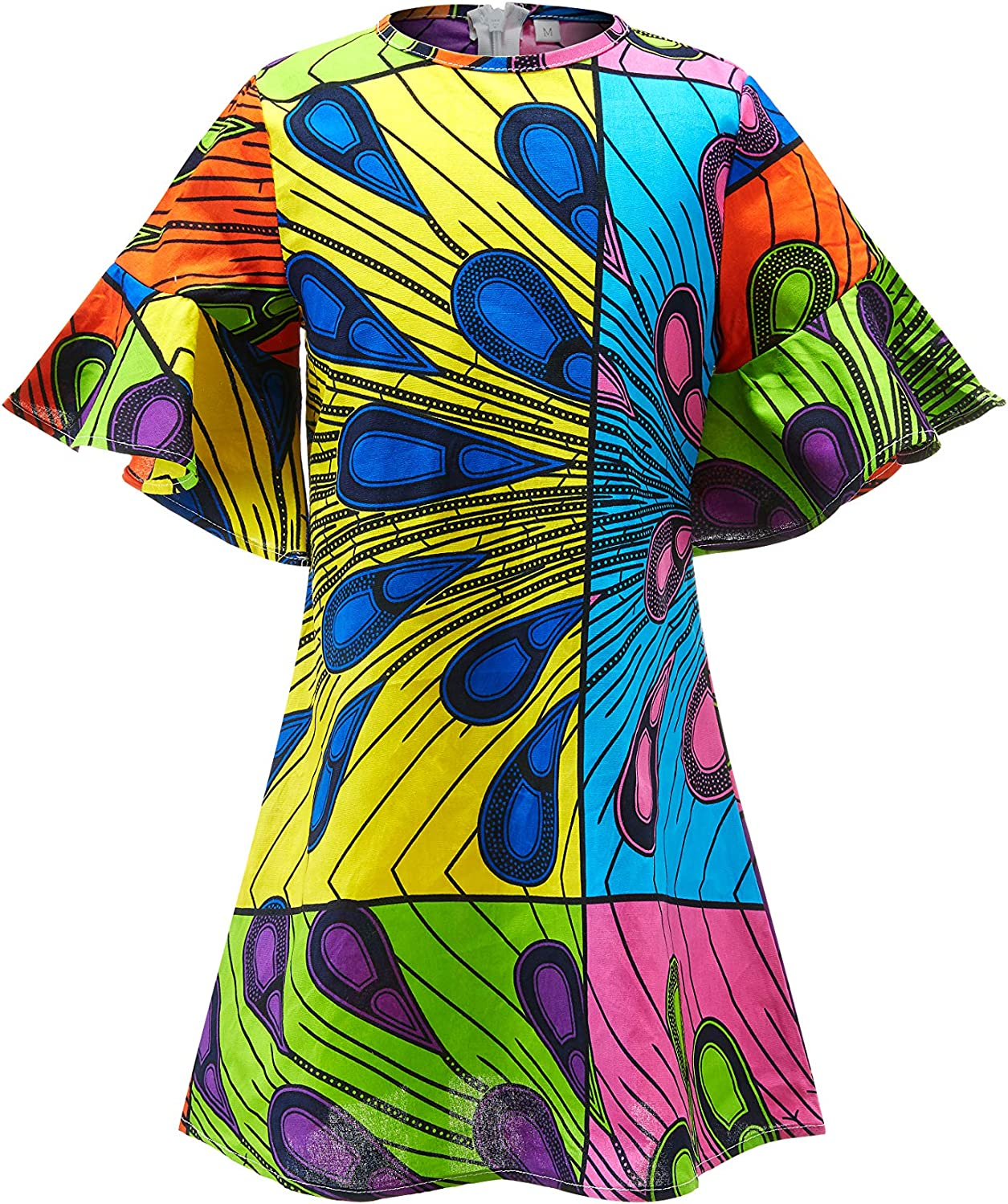 Aikaplus Women African Wax Print Shirt Ankara Traditional Top