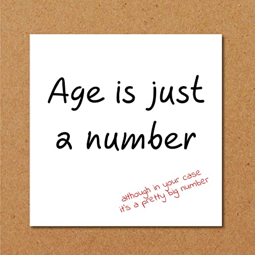 Funny Age Birthday Card Humorous Dad Mum Husband Friend Rude 40th 50th 60th Fun Old Amazoncouk Handmade