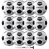 Franklin Sports Soccer Balls - Size 3, Size 4, Size 5 Traditional Soccer Balls - Youth and Adult Soccer Balls - Bulk…