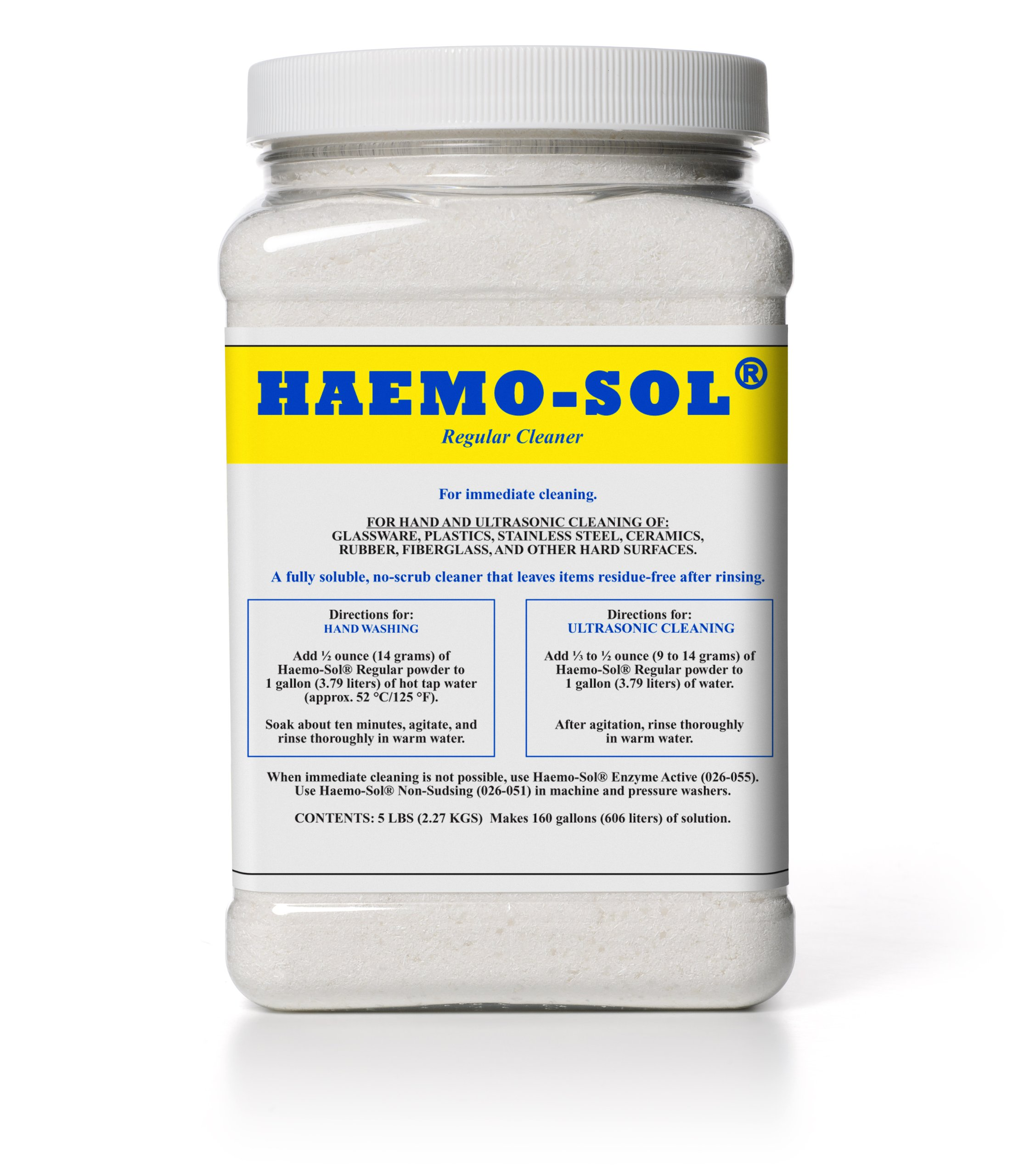 Haemo-Sol 026-050CN Concentrated Critical Care Detergent, 5 lb by HAEMO-SOL