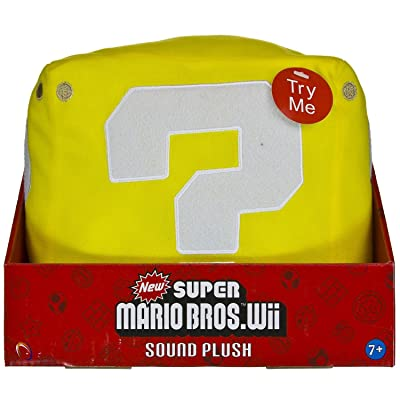 "Question Mark Coin Block Box ~7"" Sound Plush: New Super Mario Bros. Wii Sound Plush Series: Toys & Games"