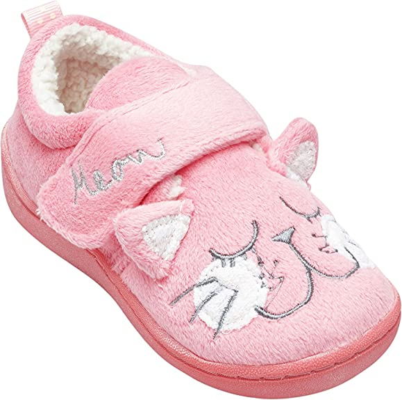 Girls Slippers with Cat Character