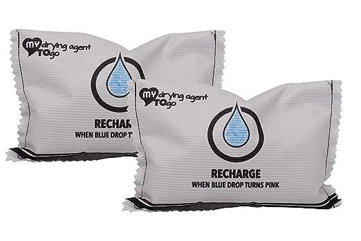 2 Bolsas deshumidificadore Reutilizable, eficaz, purificador de Aire Antihumedad in Gel de silice MY Drying Agent TO GO Duo Absorbe olores, Anti ...