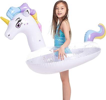 Amazon.com: JOYIN Flotador inflable de unicornio con ...