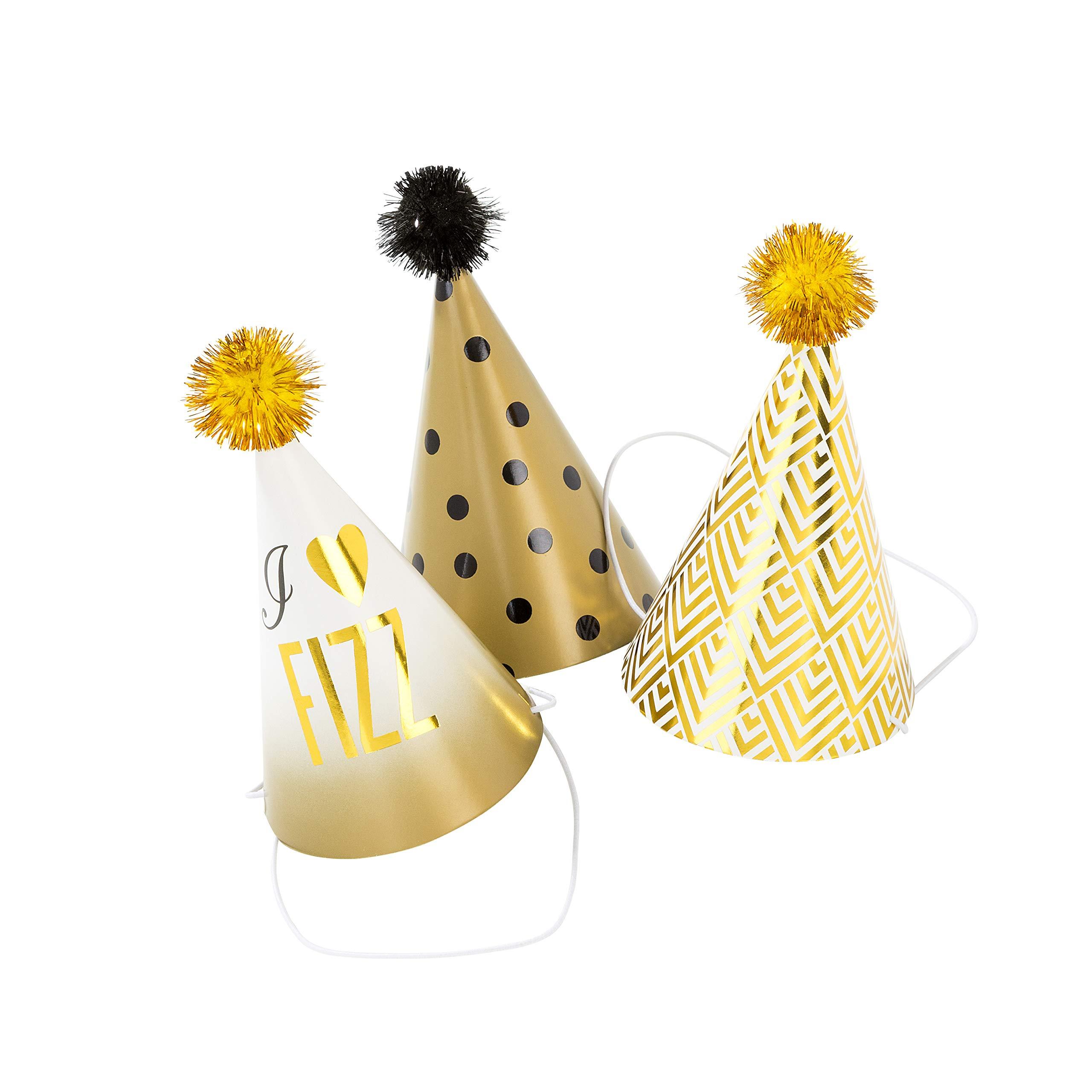 Talking Tables GLIT-GME-Name Glitterati Mini Party Hats and Game PK6, Multicolor