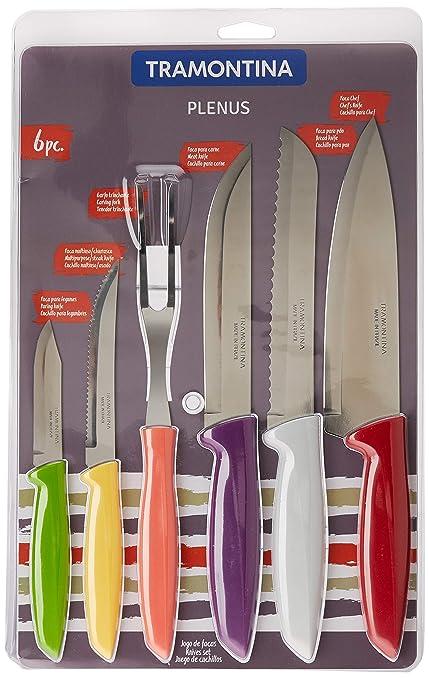 Compra Tramontina 23498/916 - Juego de cuchillos de cocina ...
