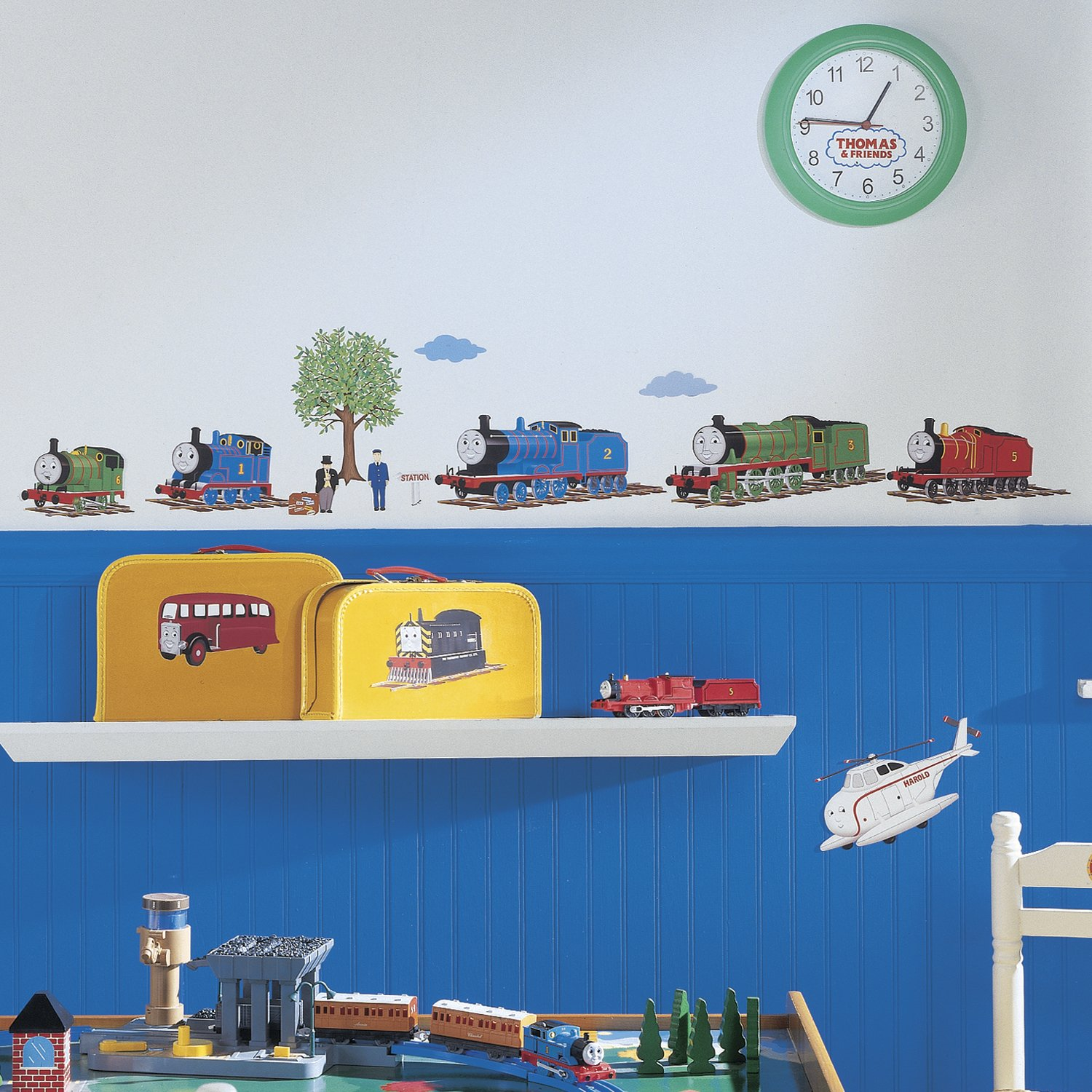 Amazon.com: RoomMates RMK1035SCS Thomas The Tank Engine And Friends Peel  And Stick Wall Decals,Set Of 27 Decals: Home Improvement