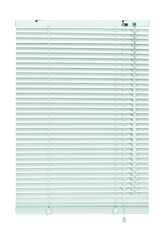GARDINIA Veneziane in alluminio, Visibilità, Protezione dalla luce e ai raggi solari, Fissaggio al muro e al plafone, Kit di montaggio incluso, Veneziane in alluminio, Argento/Bianco, 100 x 140 cm (LxA) 33832