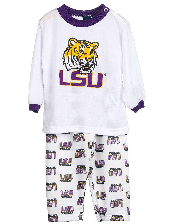 8-16 Louisiana State LSU Tigers Big Boys Long Sleeve 2-Piece Scrn Print PJ