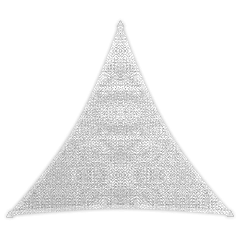 Windhager 10977 color blanco Vela de sombra para patio triangular 5m
