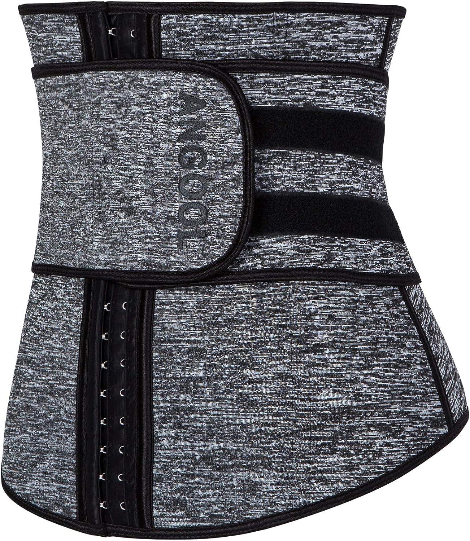 ANGOOL Fajas Deportivas Neopreno Cintur/ón Lumbar de Sudoraicion Cintur/ón de Cintura para Mujeres Cintur/ón Transpirable Cintura