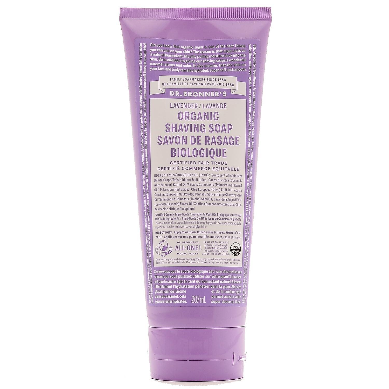 Dr. Bronner's Organic Shaving Soap, Unscented, 7 Fl. Oz. Dr. Bronner' s
