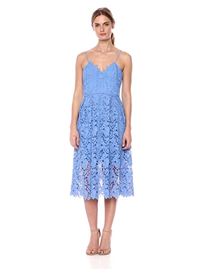 47186b19019e Donna Morgan Women s Chemical Lace Spaghetti Strap Midi Dress at Amazon  Women s Clothing store