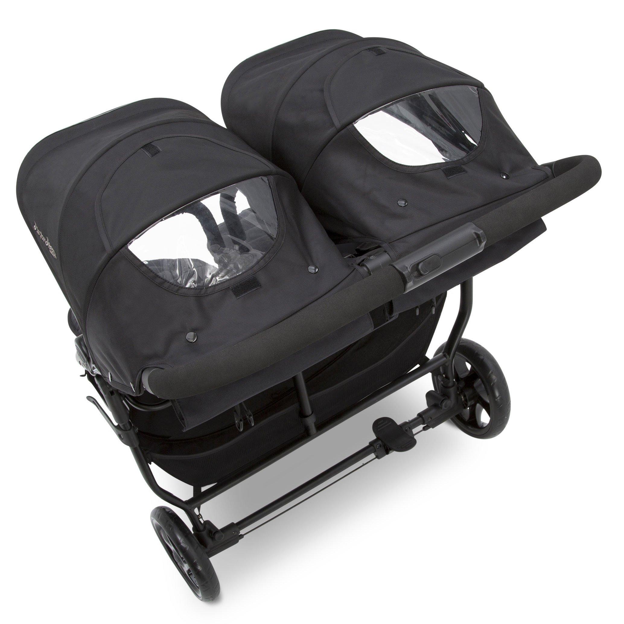 Jeep Destination Ultralight Side x Side Double Stroller, Midnight (Black) by Delta Children (Image #6)