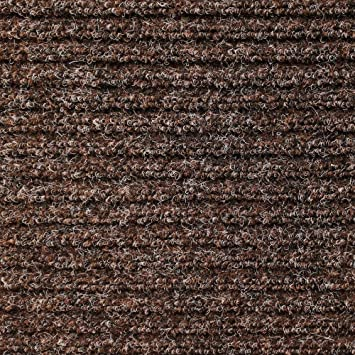 Heavy Duty Ribbed Indoor/Outdoor Carpet With Rubber Marine Backing   Tuscan  Brown 6