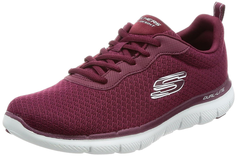 Skechers Women's Flex Appeal 2.0 Newsmaker Sneaker B01NAVJFSC 7 B(M) US|Burgundy