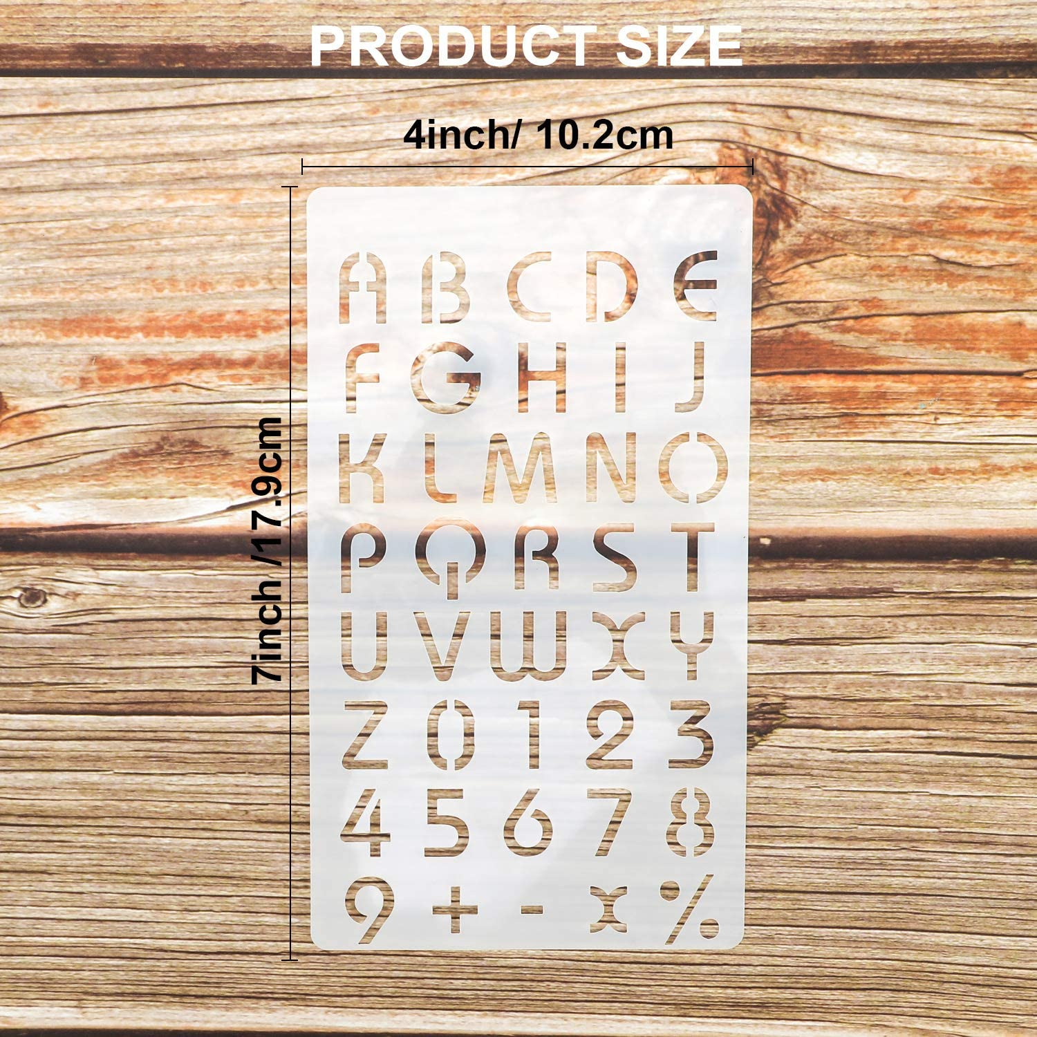 Konsait 20Pack Letter and Number Stencils Reusable Alphabet Stencils Bullet Journal Supplies Templates for Kids Drawing//Scrapbooking//Card//Wall//Notebook//Birthday Party Favor Crafts//Gift Decoration
