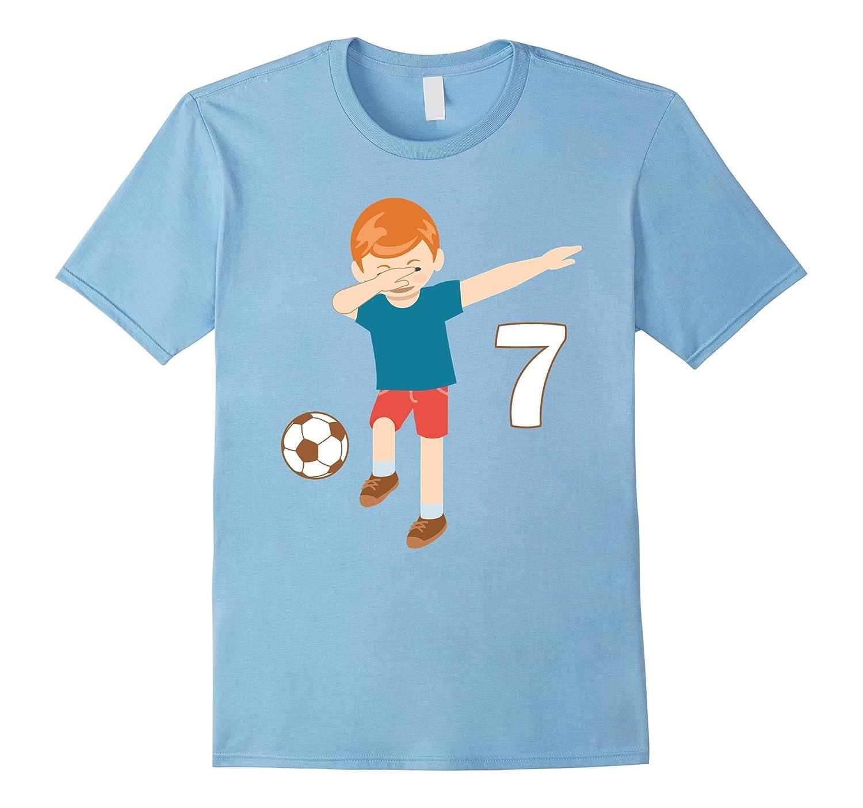 Dabbing Dance 7 Years Old Birthday Shirt Boys Soccer Players ANZ
