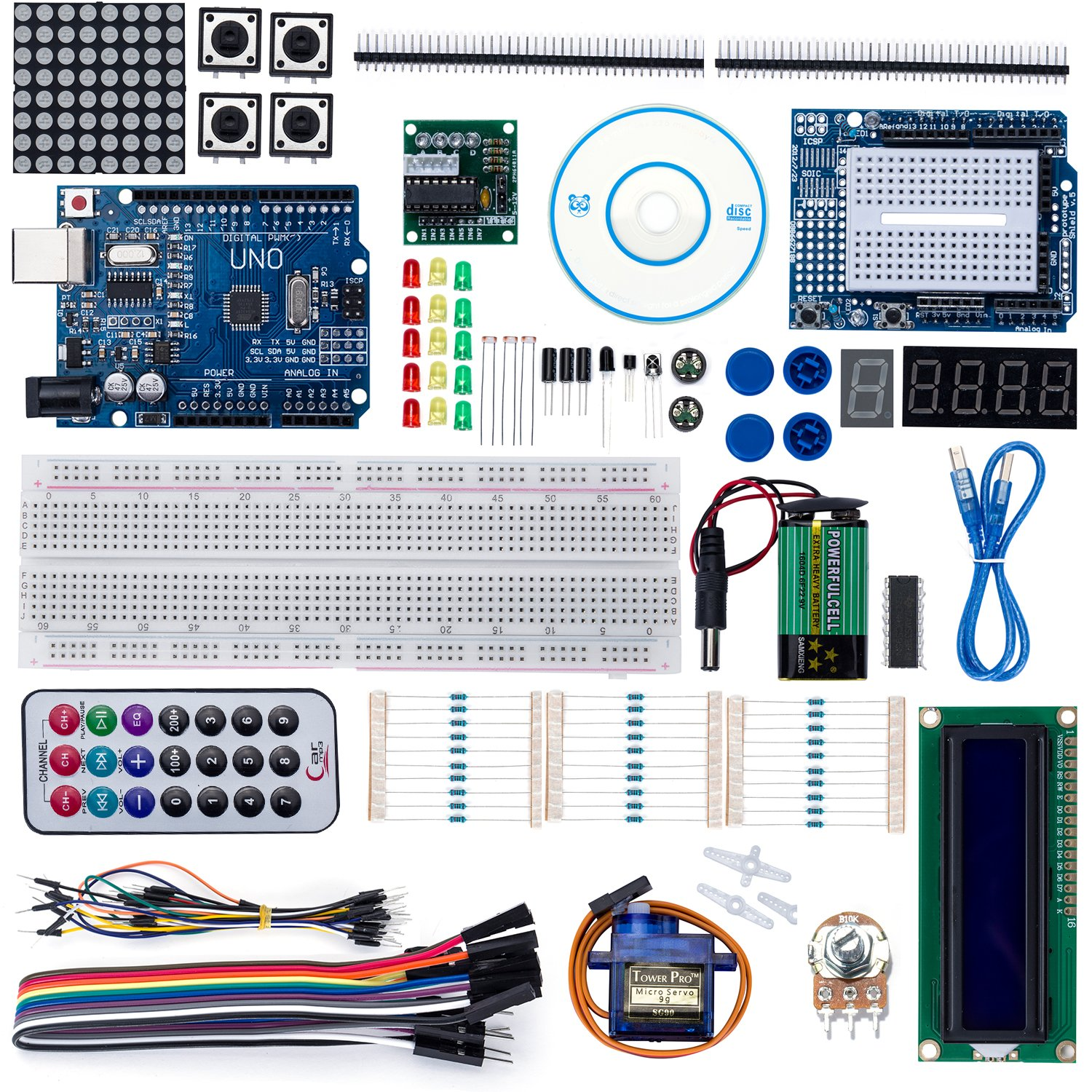 Longans Uno R3 Project Super Starter Kit With Tutorial For Arduino 13 Arduinokit 003
