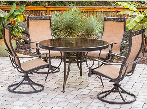 Hanover MONDN5PCSWG-P Monaco 5 Piece Dining Set Outdoor Furniture